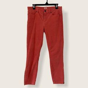 Burnt Orange J. Crew Toothpick Corduroy Pants